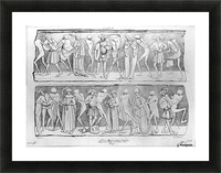 Dance of death Picture Frame print