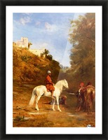 Watering the horses Picture Frame print