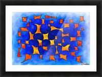 Blesmios V1- melting cubes Picture Frame print