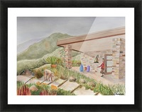 Back Patio Picture Frame print