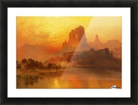 The golden hour Picture Frame print