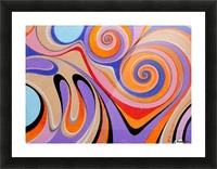 Ink drop Picture Frame print