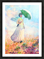 Lady with sunshade, study by Monet Picture Frame print