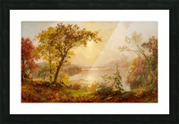Lake Autumn on the Hudson Picture Frame print