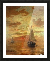 Summer evening Picture Frame print