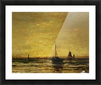 The Return of the Fleet at Sunset Picture Frame print