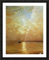 Sunset at Scheveningen Sun Picture Frame print