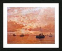 Calm Sea Sun Picture Frame print