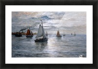 Sailing ships at Scheveningse coast Picture Frame print