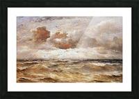La Mer du Nord Sun Picture Frame print
