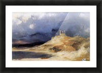 Galgenberg bei Gewitterstimmung Picture Frame print