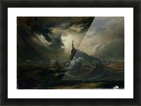 Sturmische See mit Leuchtturm Picture Frame print