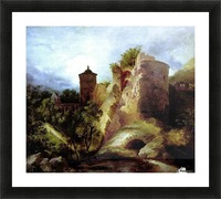A deserted castle Picture Frame print