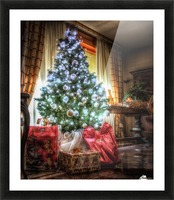 Christmas Tree Picture Frame print