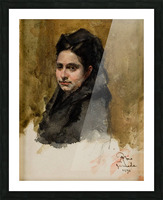 A young Oriental woman Picture Frame print