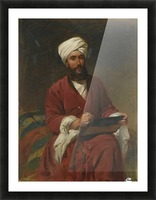 An Oriental man writing Picture Frame print