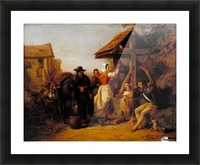The Tired Soldier Resting at a Roadside Well Picture Frame print