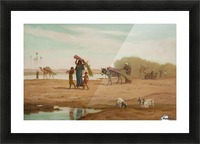 Getting in the Sugar Cane, River Nile Picture Frame print