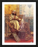 An Oriental man reading Picture Frame print