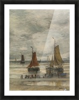 Boats by the sea Picture Frame print