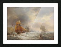 A stormy day of the sea Picture Frame print
