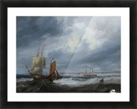 Shipping off Seaham Picture Frame print