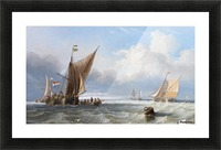 Off the Dutch Coast Picture Frame print
