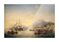 Erebus' and the 'Terror' in New Zealand Picture Frame print