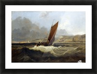 Sailing Boat off the Coast Picture Frame print