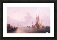 Shipping off a Dutch Port Picture Frame print