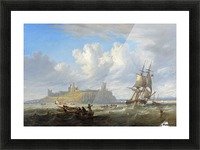Shipping off Dunstanborough Castle, Northumberland 1844 Picture Frame print
