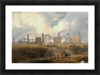 Workers near the factory Picture Frame print