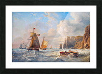 A Breezy Day off Flamborough Head Picture Frame print