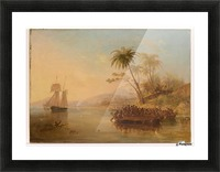 The Rescue Of William Doyly Picture Frame print