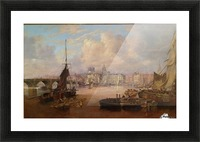 The Mayors Barge on The Tyne Picture Frame print
