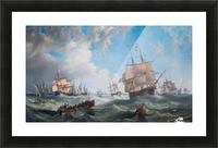 The Channel fleet in heavy weather Picture Frame print
