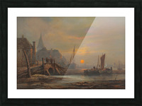 Preparation of fishing boats, Low Countries Picture Frame print