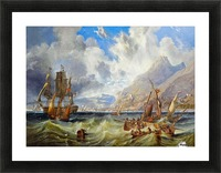 Sailing to Gibraltar Picture Frame print
