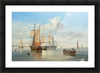 Shipping in a Flat Calm off the Dutch coast Picture Frame print