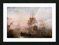 Anchored off the Isle of Wight Picture Frame print