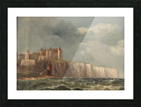 A castle on a clif Picture Frame print