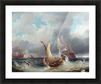 Shipping Offshore in a Stormy Sea Picture Frame print