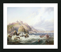 Fishing boats off Scotland Picture Frame print