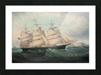 A large boat by the sea Picture Frame print