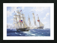 American boats by the sea Picture Frame print