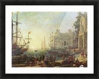 Seaport with the Villa Medici Picture Frame print