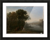 A few people in a lagoon Picture Frame print