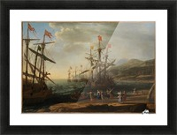 The Trojan Women Setting Fire to Their Fleet Picture Frame print