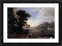 Paysage avec marchands Picture Frame print