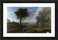 Landscape With David At The Cave Of Adullam Picture Frame print
